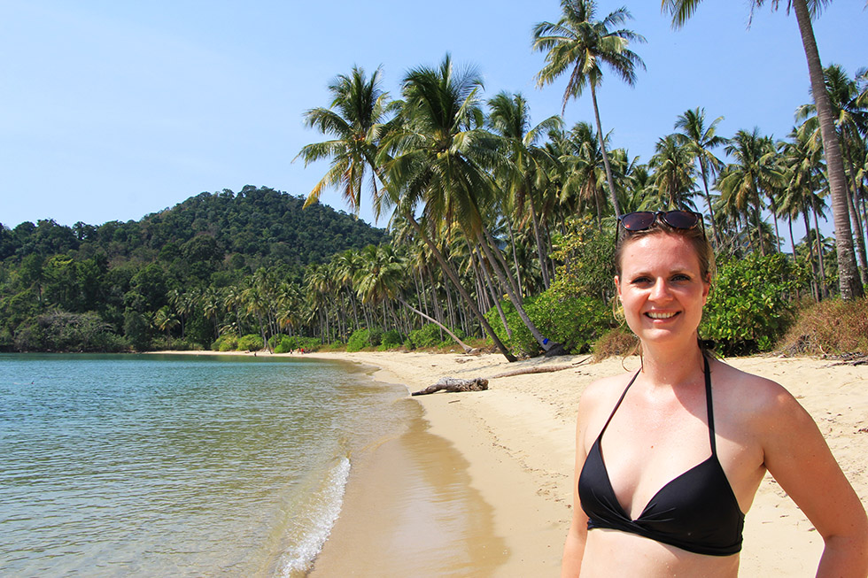 Perfectly happy at Wai Chaek Beach on Koh Chang