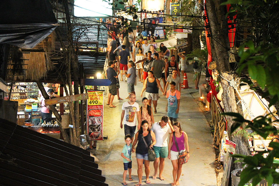 Koh Lipe's Walking Street is always crowded