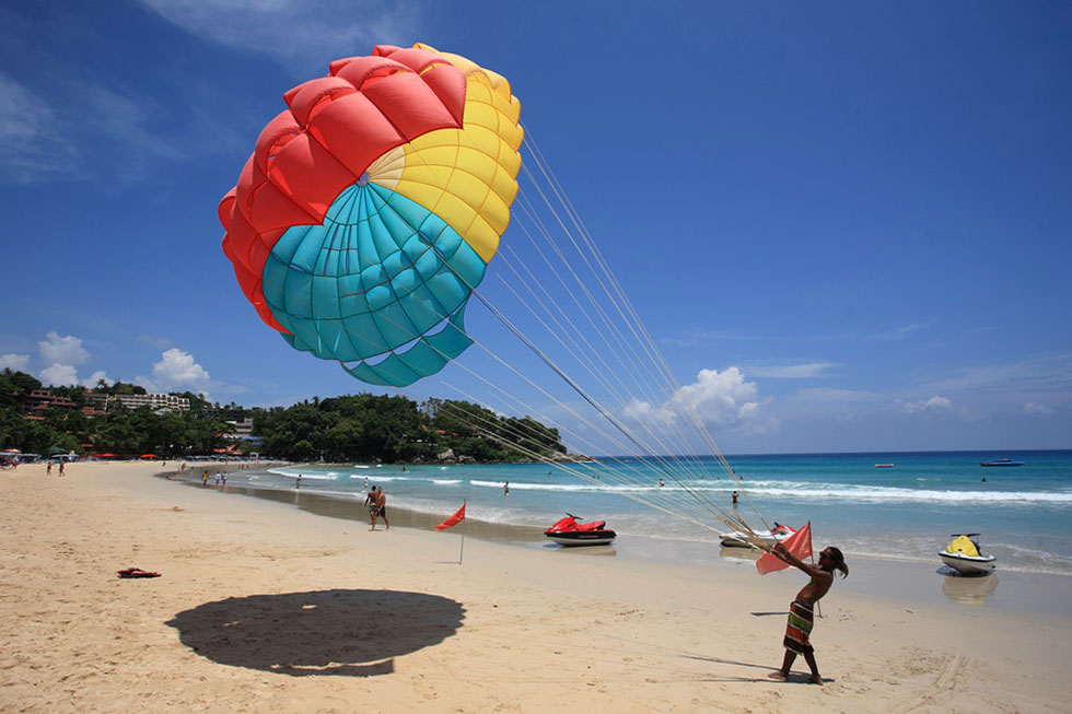 Parasailing at Kata Beach - Phuket
