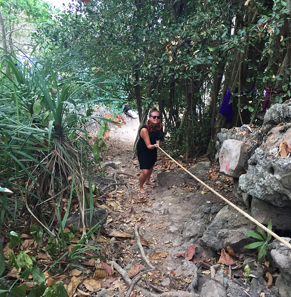 Climbing to Ao Nui Beach in Koh Phi Phi
