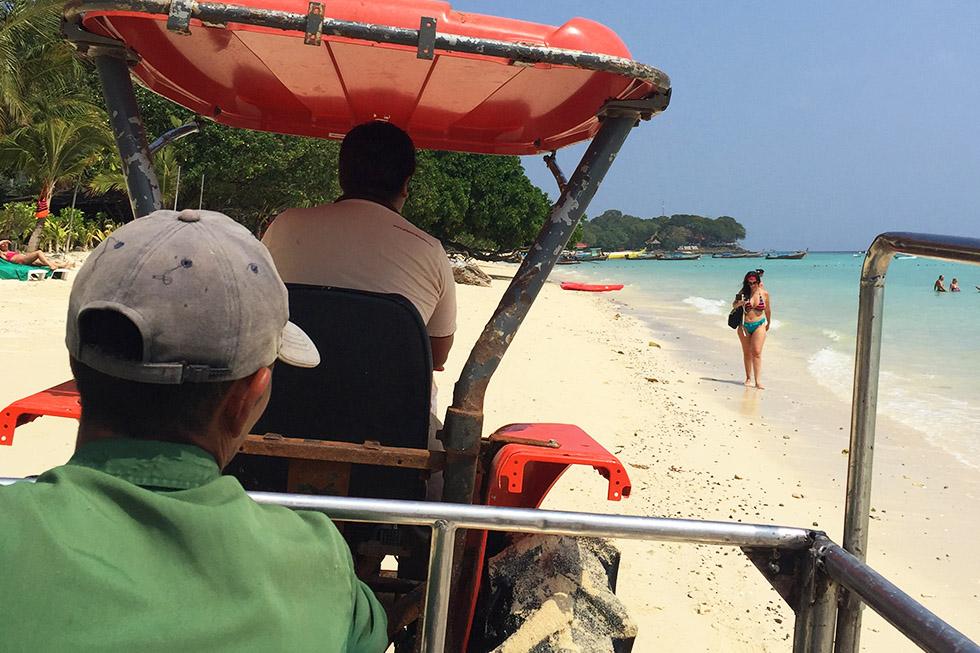 Grabbing a ride - Koh Phi Phi