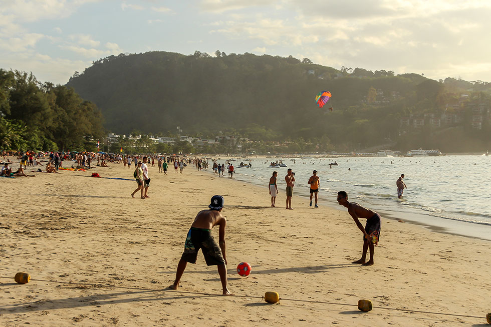 Crowds at Patong Beach - Phuket