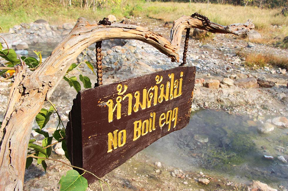 No boiling eggs here - Ta Pai Hot Spring in Pai