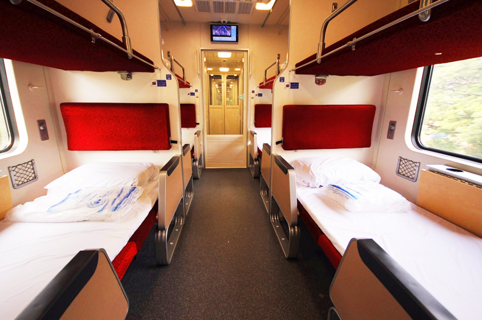 Interior of the new Thai sleeper train