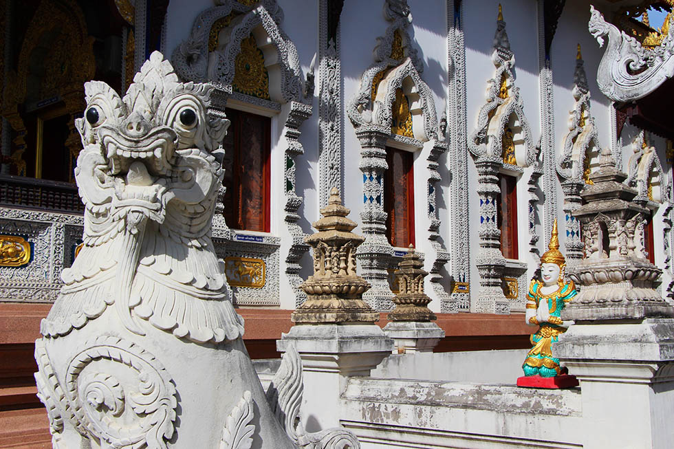 Burmese-style temple in Chiang Mai