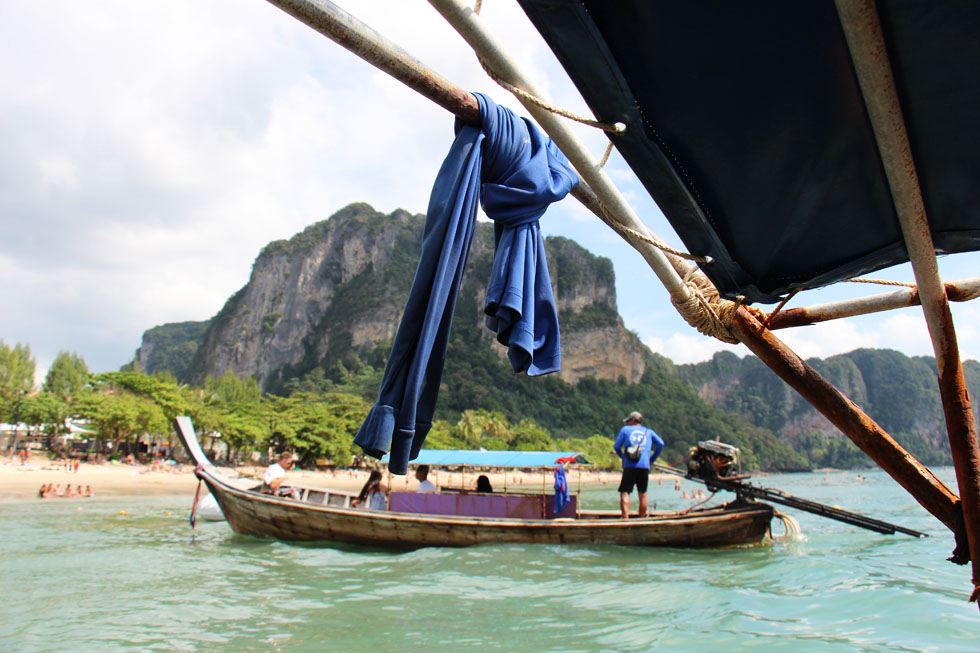 Long-tail boat from Ao Nang to Railay