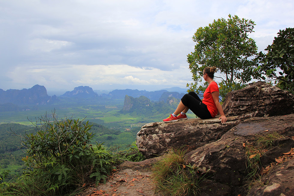 Posing at Khao Ngon Nak Trail in Krabi