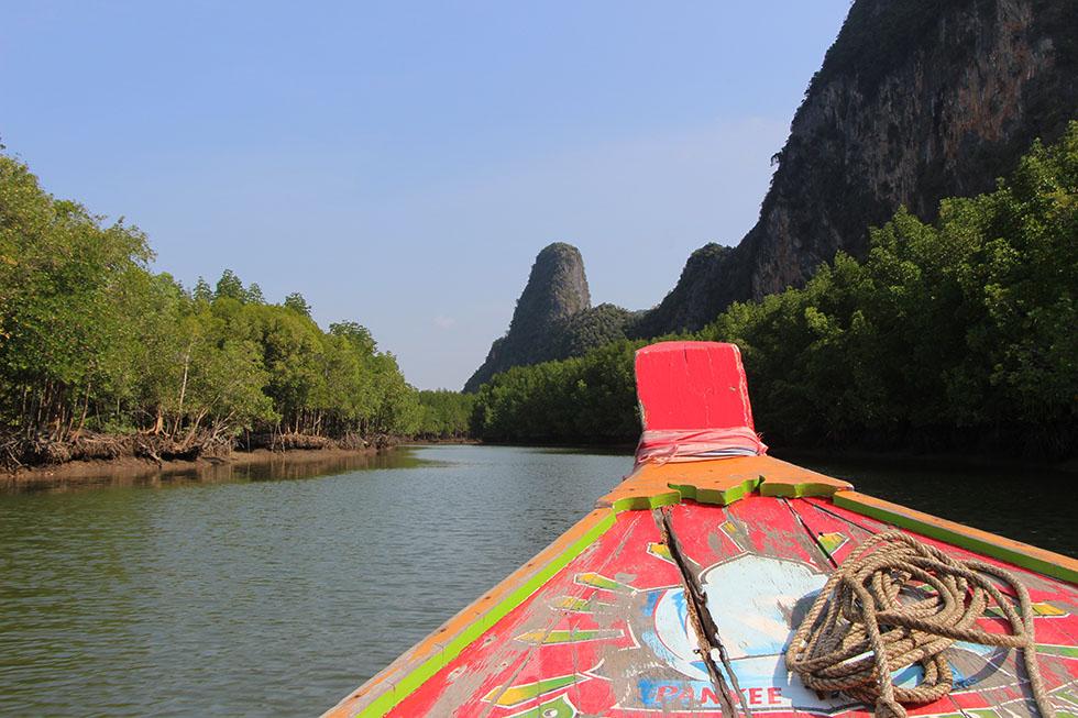 Long-tail around the Phang Nga Bay