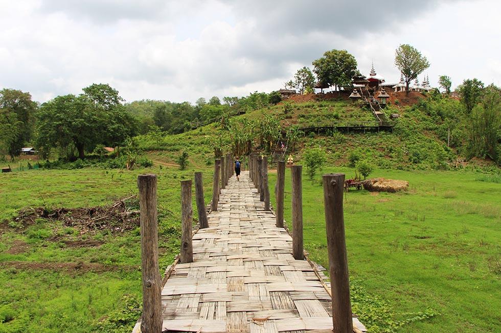 Bamboo Bridge to Su Tong Pae in Mae Hong Son