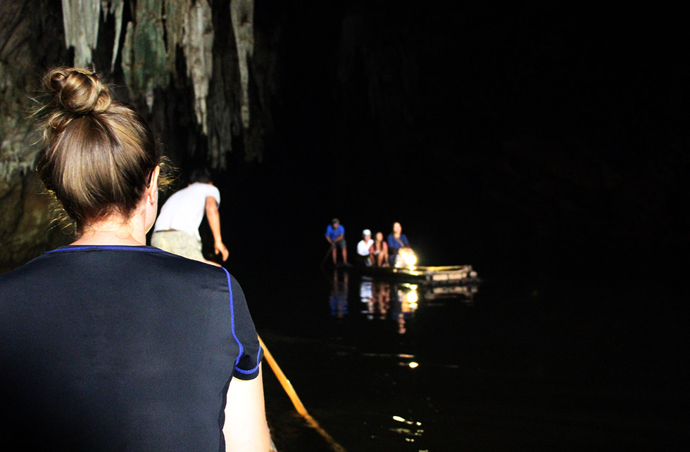 Rafting through Tham Lod Cave