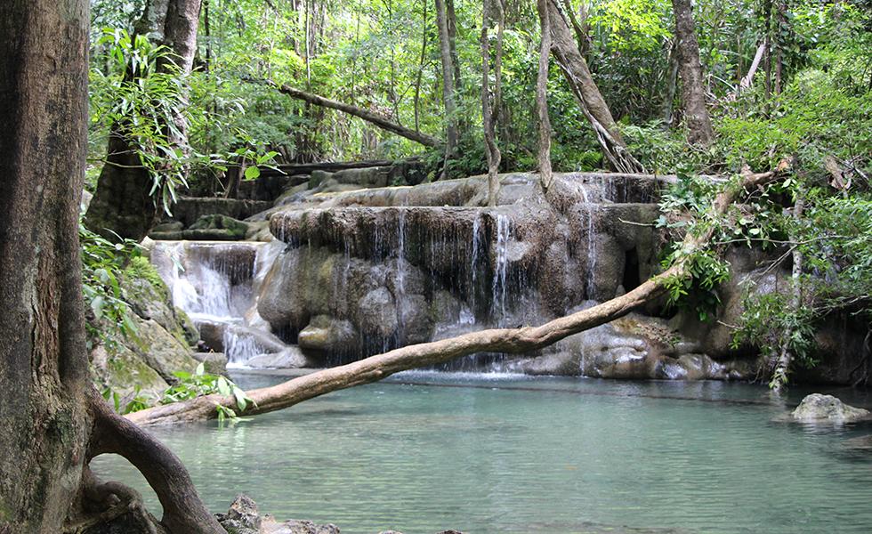 Erawan Falls in Erawan National Park, Kanchanaburi
