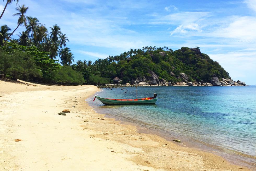 Empty tropical beaches