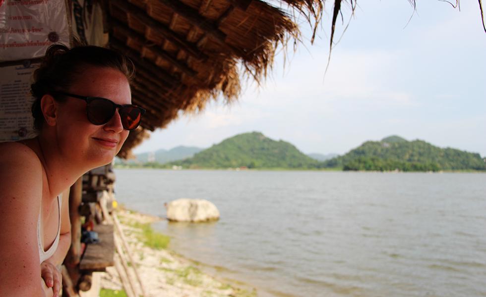 Enjoying the view at Ang Sap Lek, Lopburi