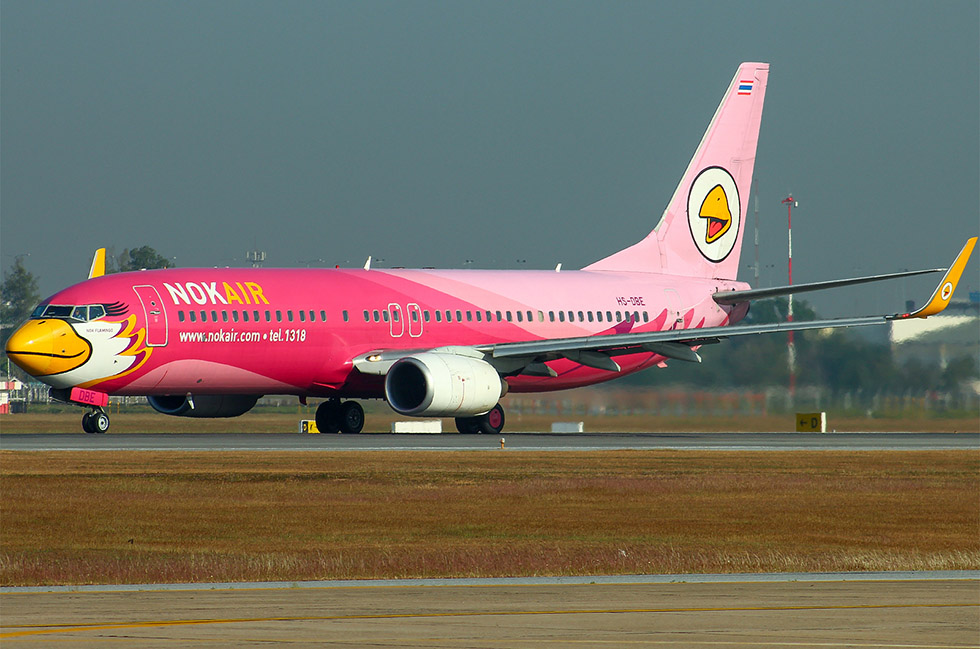 Nok Air, one of Thailand's budget airlines