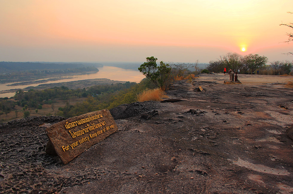 Beautiful sunset overlooking Mekong River - Pha Taem National Park