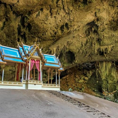 Small temple shrine inside the Phraya Nakhon Cave