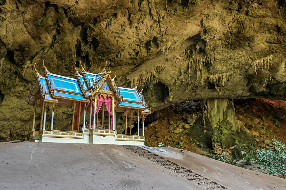 Small temple shrine inside the Phraya Nakhon Cave