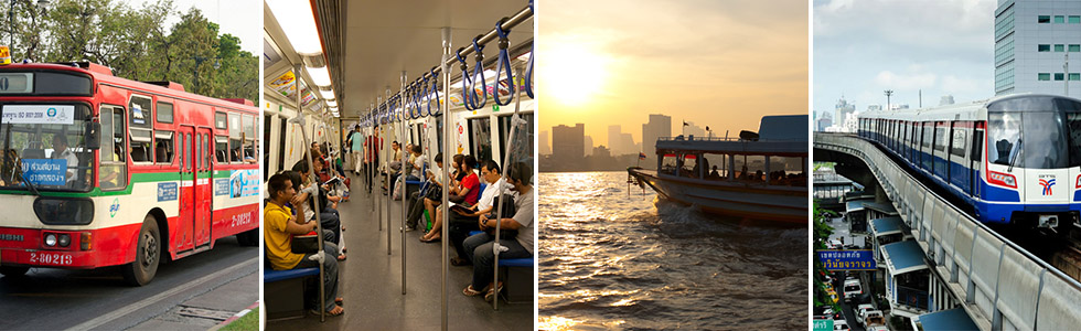 Public transport in Bangkok: Bus, metro, boat and skytrain
