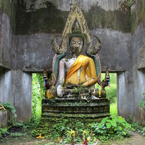 Jungle temple in Sangkhlaburi