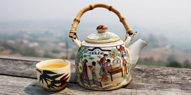 Enjoying a cup of tea - Smoky Season in Chiang Mai
