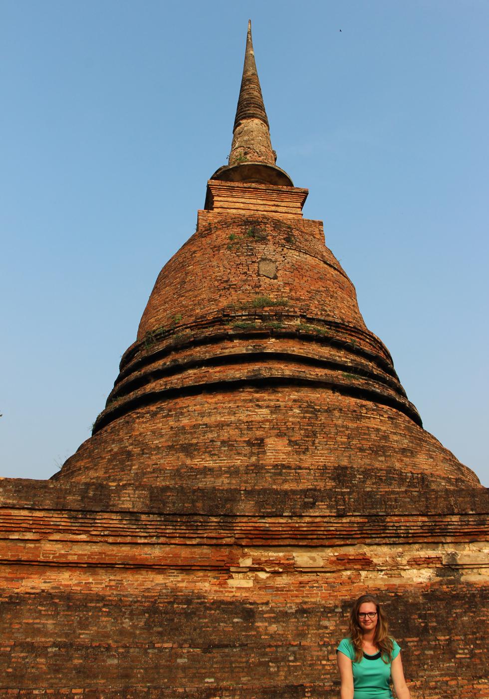 Chedi of Wat Sa Si in Sukhothai