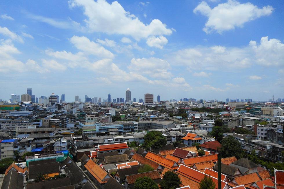 View over Bangkok from Wat Saket
