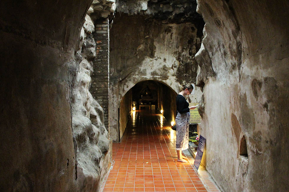 One of Wat Umong's tunnels in Chiang Mai