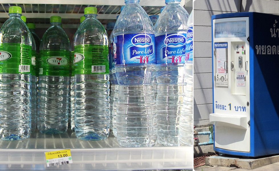 Refill your bottle for cheap at a refill station