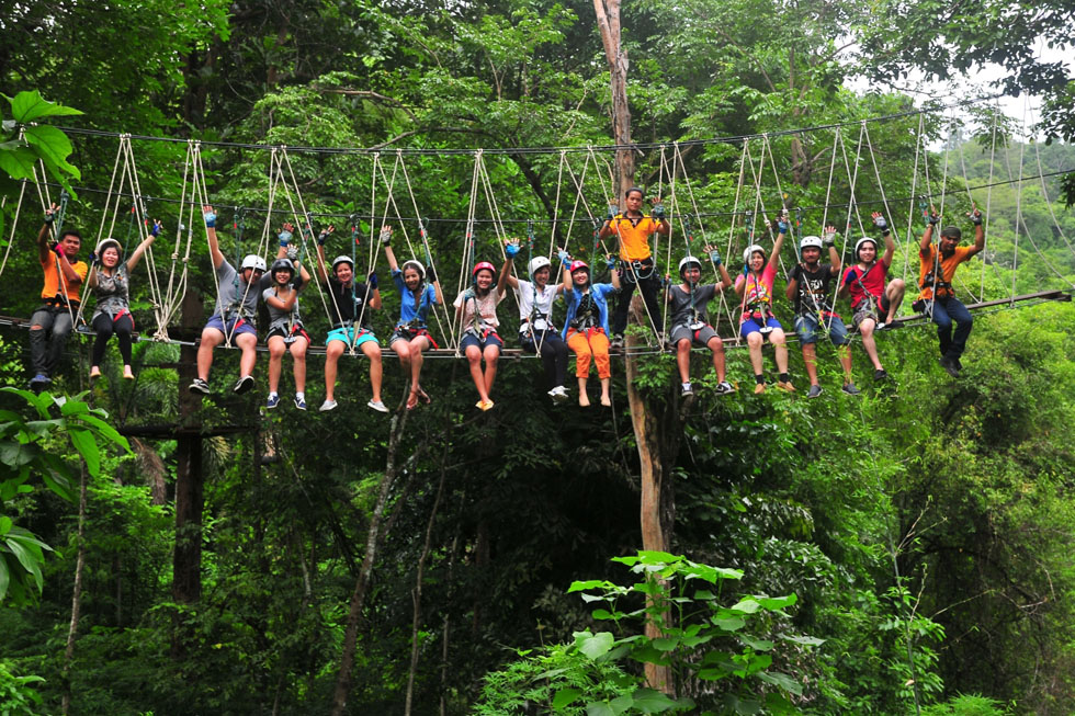 Tree Top Adventure Park in Koh Chang