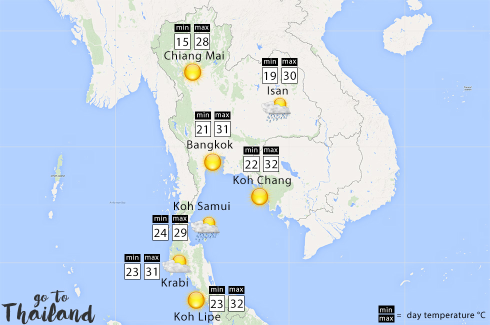 What to expect of the weather in Thailand in December