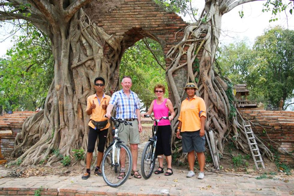 Bike ride in Ayutthaya