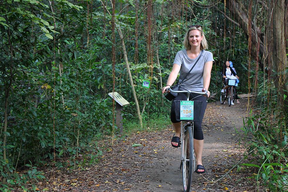 Cycling at Bang Krachao in Bangkok