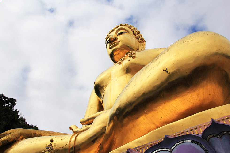 Big Buddha statue at Chiang Rai's Golden Triangle