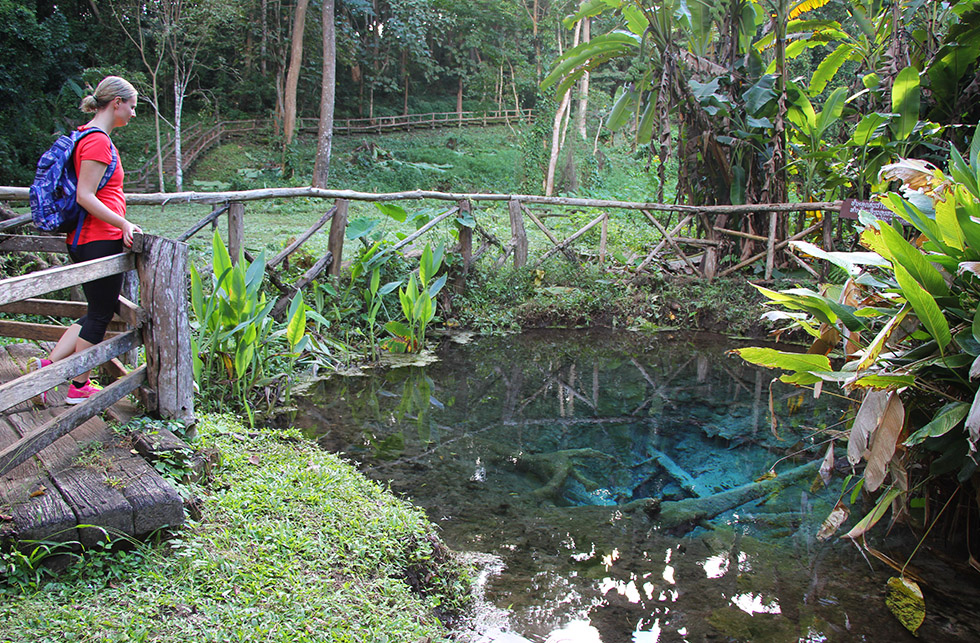 The blue pool at Bua Thong Waterfalls