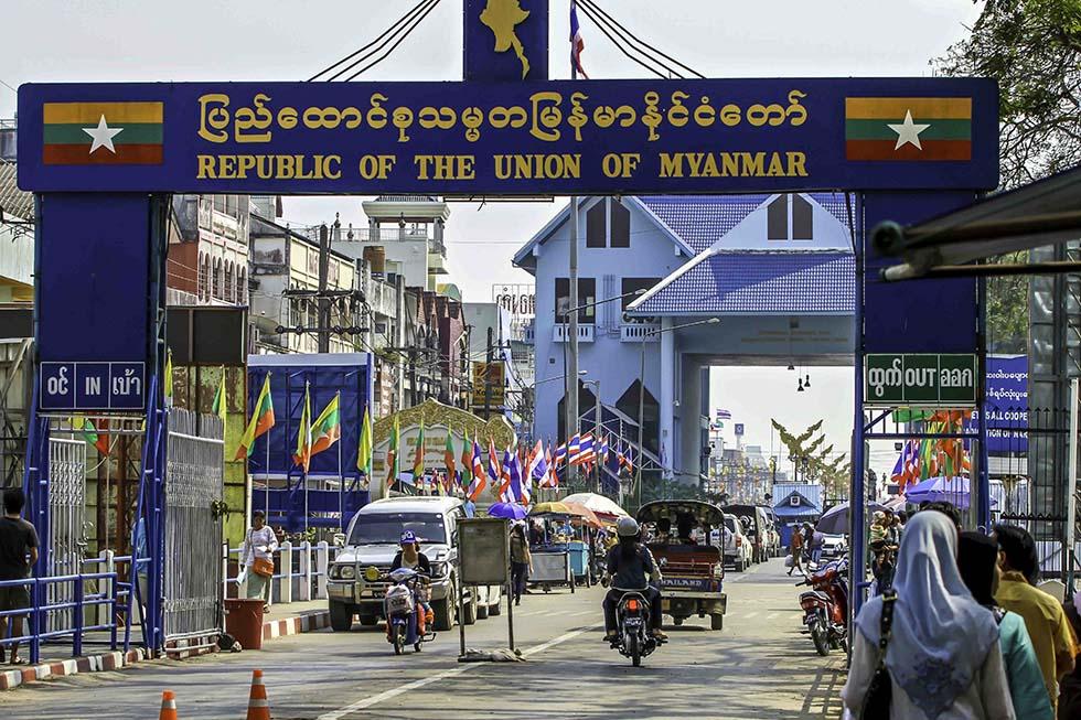 Border to Myanmar in Mae Sai
