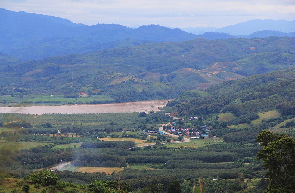 Roaring Mekong river