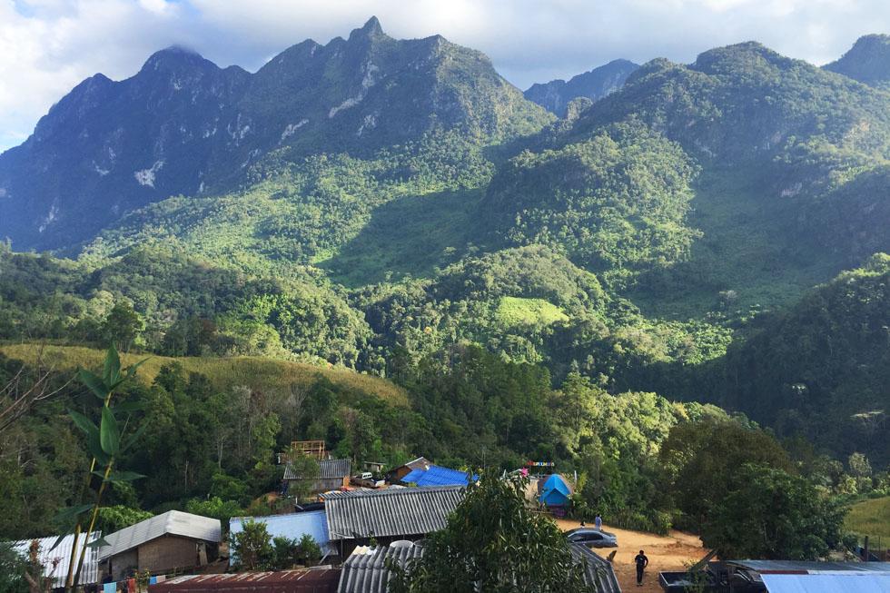 Beautiful view from Chiang Dao's Lisu village