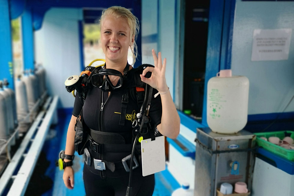 Ready for my next dive in Koh Tao
