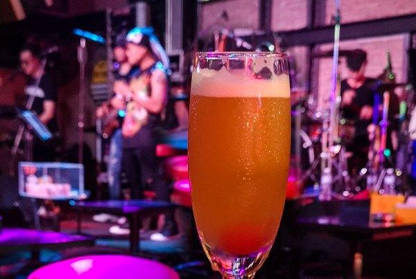A cold drink in Pattaya's Walking Street