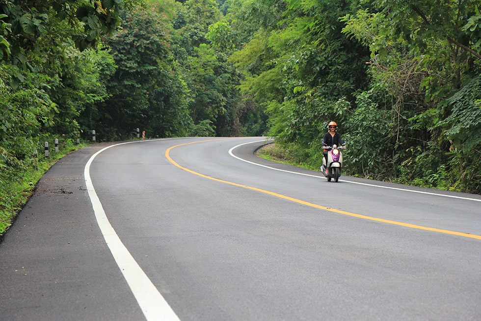 The jungle road to Wat Chalermprakiat in Lampang
