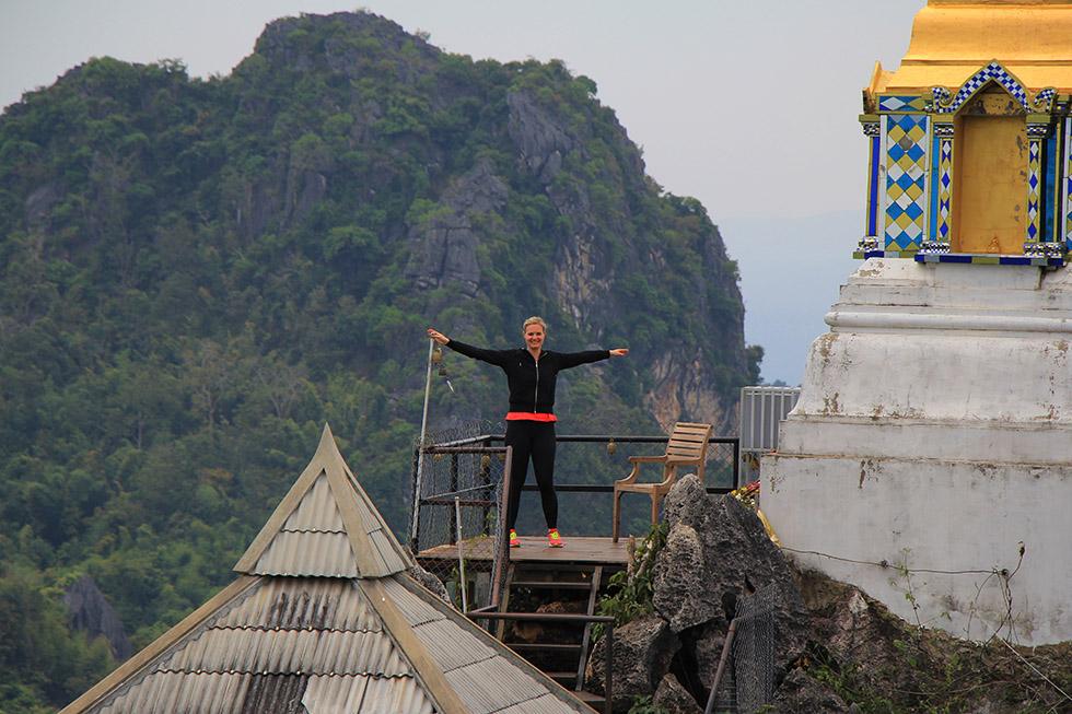Mariska at Wat Chalermprakiat in Lampang