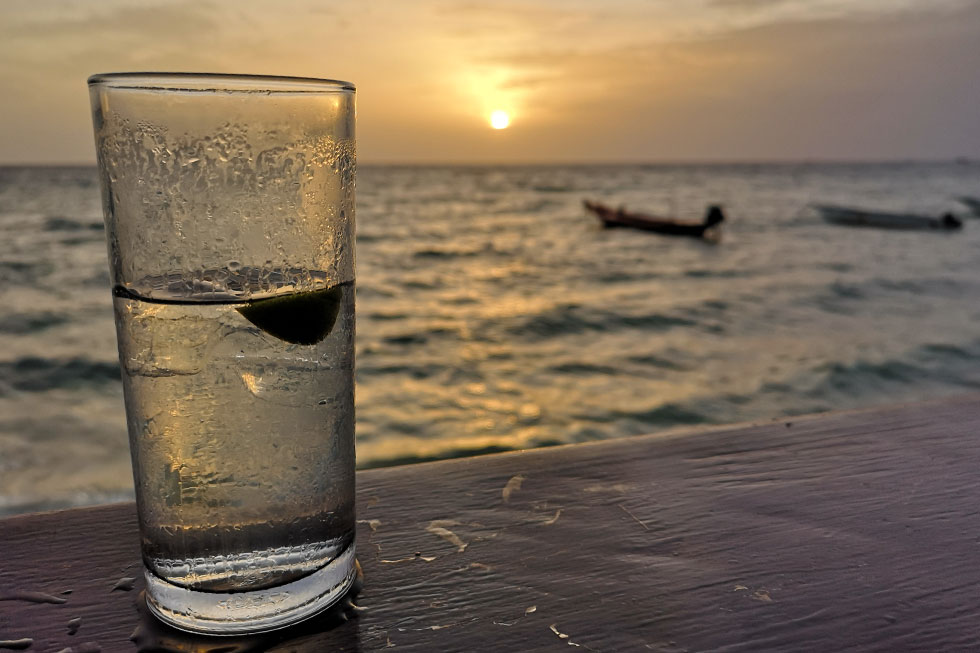 Drinks at Sairee Beach, Koh Tao