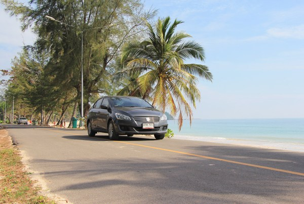 Driving a rental car in Chumphon