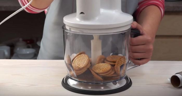 печенье в блендере для основы