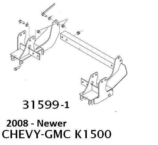 Western UltraMount Kit 2007-2015 Chevy & GMC K1500