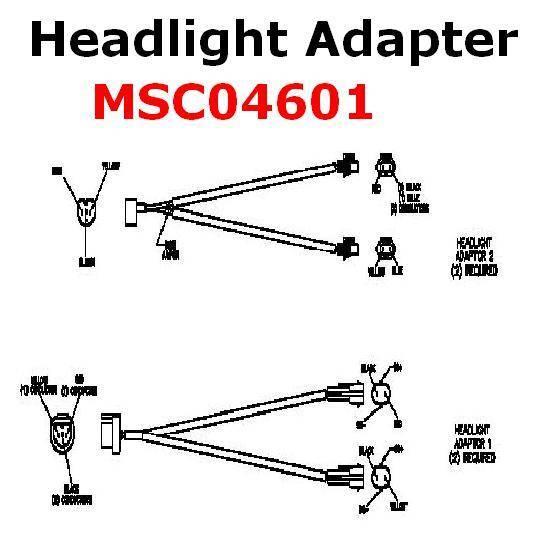 Boss Headlight Adapter MSC04601 HB3-HB4 Lights