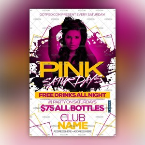 Pink Saturdays Flyer