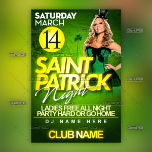 Saint Patrick Night - GotPSD.com