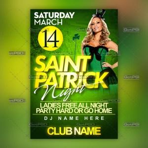 Saint Patrick Night - GotPSD.com