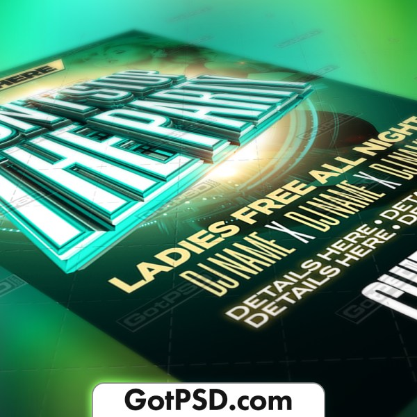 Don't stop the party Flyer Psd Template - Gotpsd.com